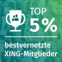 XING Award: Top 5 % der bestvernetzten XING Mitglieder