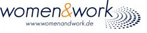 Logo women&work mit Webadresse-CMYK